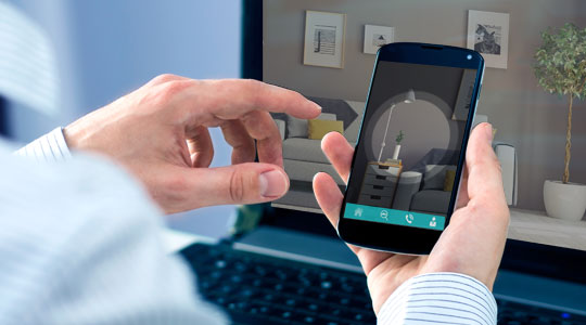 Virtual visit with a smartphone