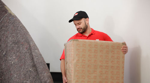 Mover carrying a box